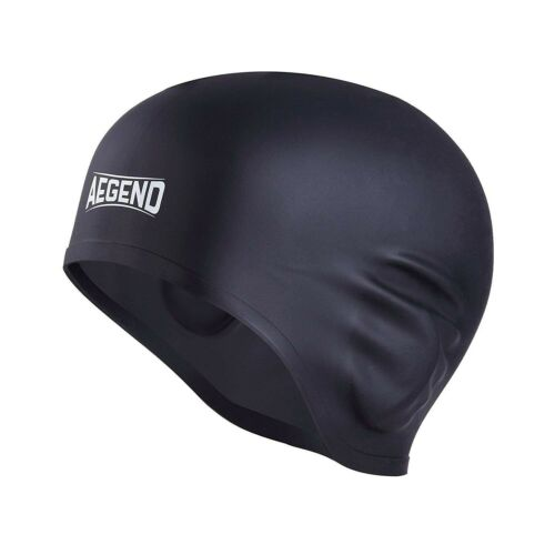 Aegend Waterproof Swim Cap for Adult Men Women Solid Silicone Swim Caps For W...