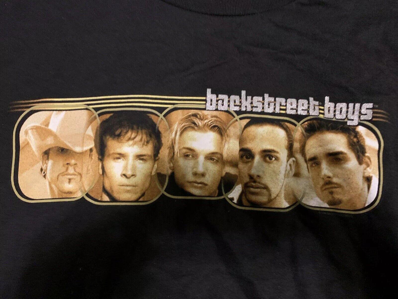 Vintage Rare Backrue garçons dans le Millennium tour à hommeches longues XL T-shirt 1999