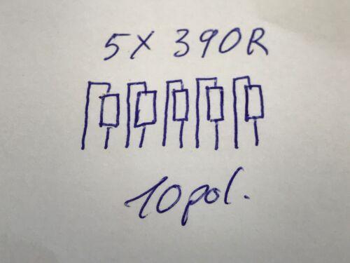 bei 70° 0,3W,BOURNS 5x390R 390R 8pol Arrays,Widerstands-Netzwerk 100 St. 2/%