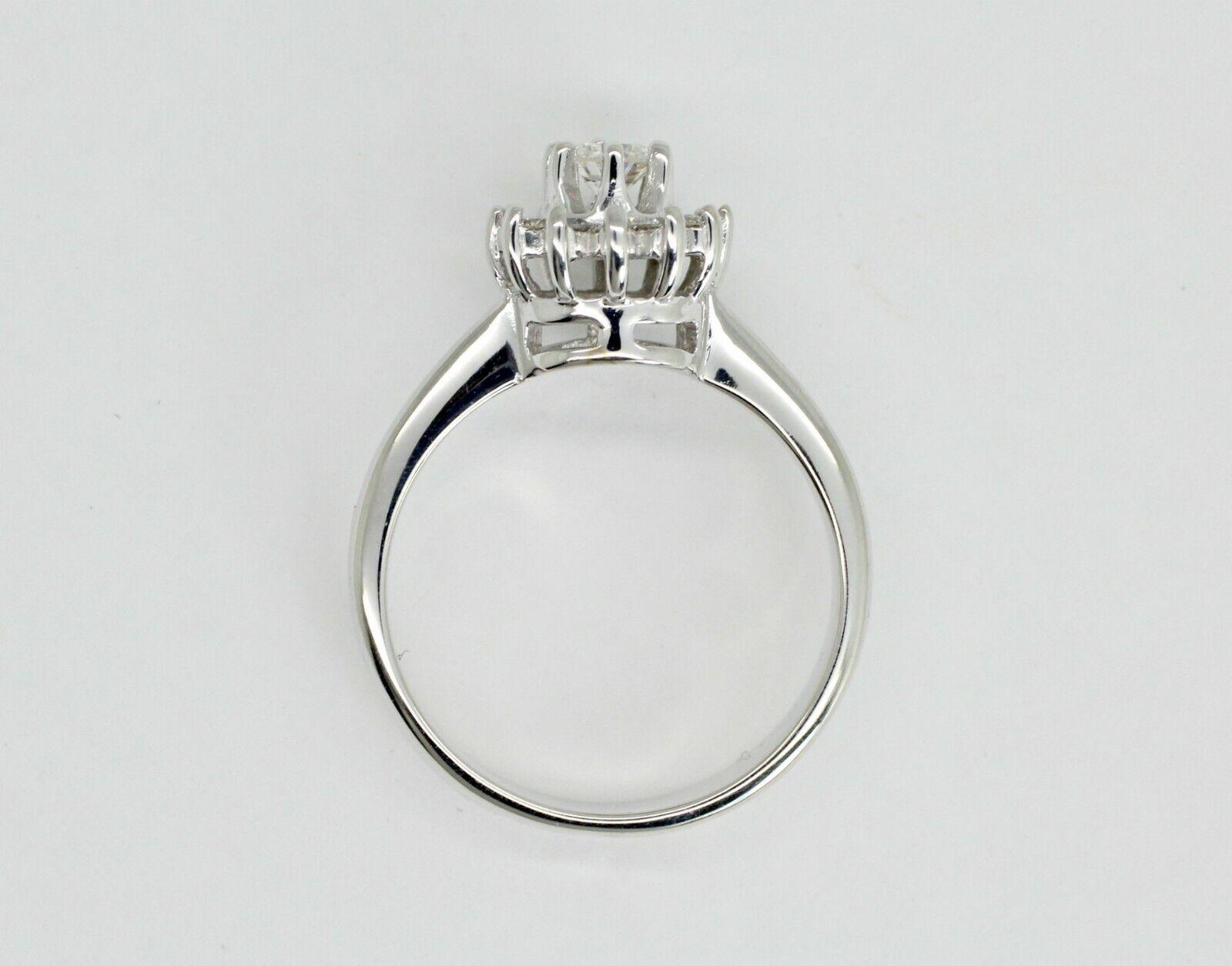229580e1a 14K WHITE gold HALO 0.29CTW H SI1 5.5US DIAMOND RING nowoxq2550-Diamond