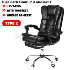 Massage Executive Office Chair Swivel Computer Gaming Chair Recliner Desk Seat