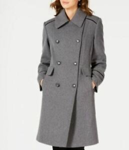 Vince-Camuto-Grey-Wing-Collar-Double-Breasted-Coat-Medium