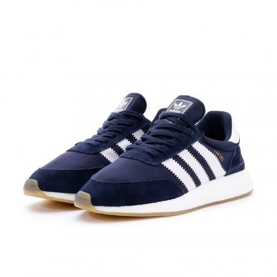 Men's Adidas Iniki Runner Boost BY9729 Navy White Casual Sneakers SZ 7-13 DS