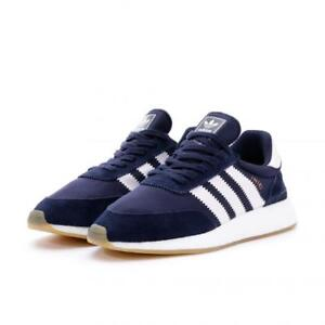 Men s Adidas Iniki Runner Boost BY9729 Navy White Casual Sneakers SZ ... ed80681f7