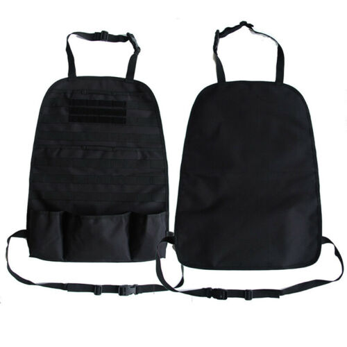 Tactical Car Seat Back Cover Organizer Storage Vehicle Panel Pouch Hanger Bag N7