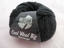 11€//100g Lana Grossa Cool Wool Big Melange 50g Farbe 618 anthrazit