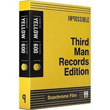 Impossible PRD4158 Third Man Records Black & Yellow Duochrome Polaroid 600 Film