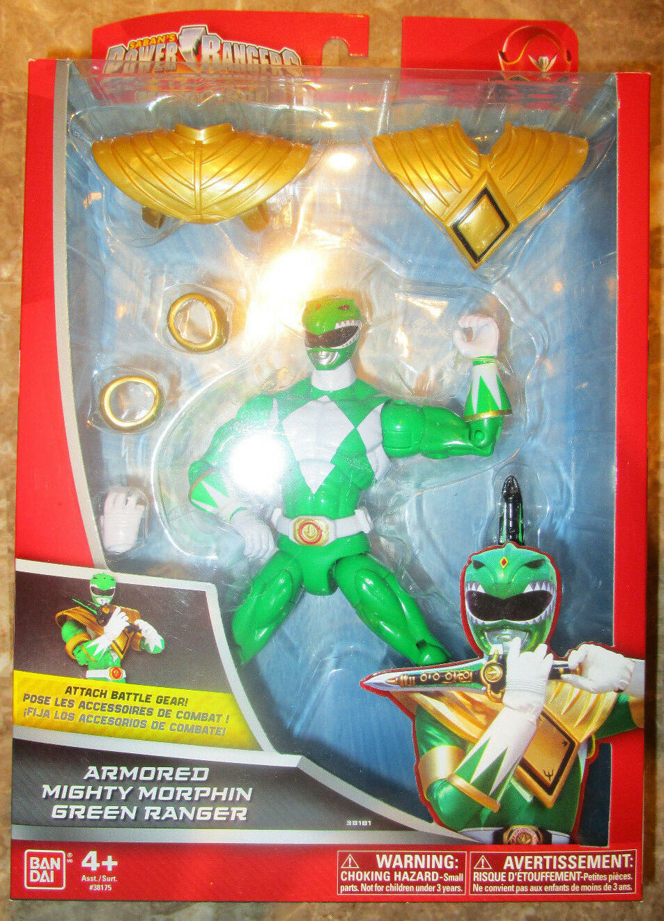 Power Rangers súper Megaforce blindado Mighty Morphin Ranger 7  figura verde