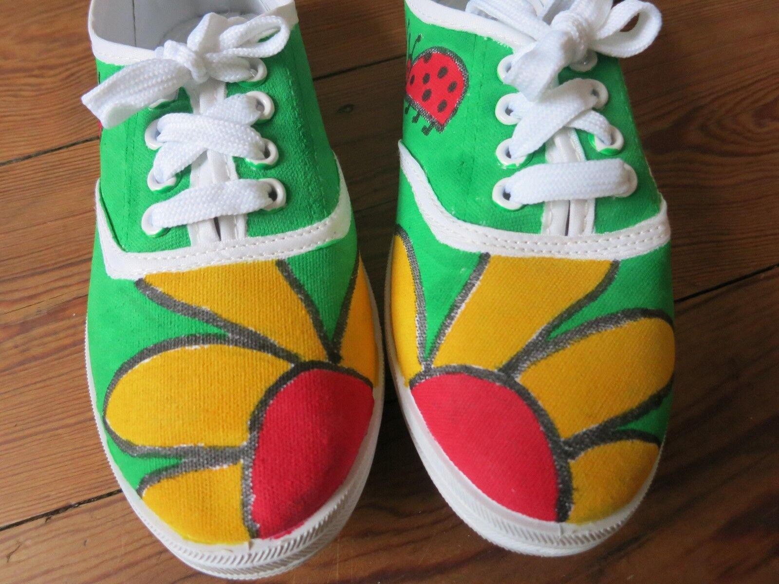 handbemalt Marienkäfer Sneaker Chucks  zapatos  Blume Marienkäfer handbemalt Design Unikat Gr. 37 6dc526