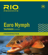 Rio Euro Nymph Tapered Leader With Tippet Ring One Color 0x/2x 11ft