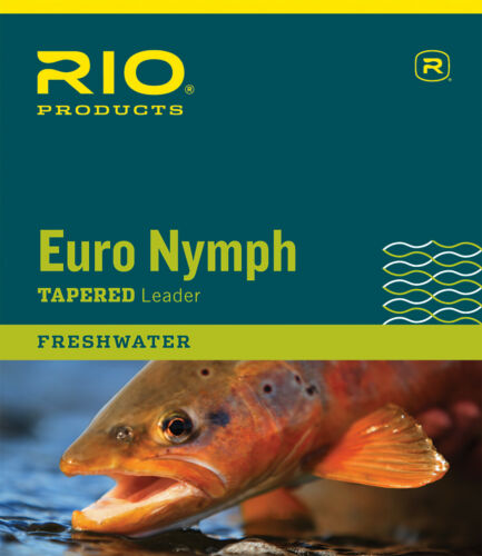 RIO 2-Tone European Nymph Trout Fly Line Leader w// Tippet Ring