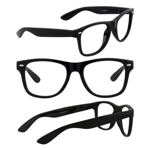 Men/'s Retro Glasses Nerd Geek Hipster Fake Eye Glasses w// Clear Lens