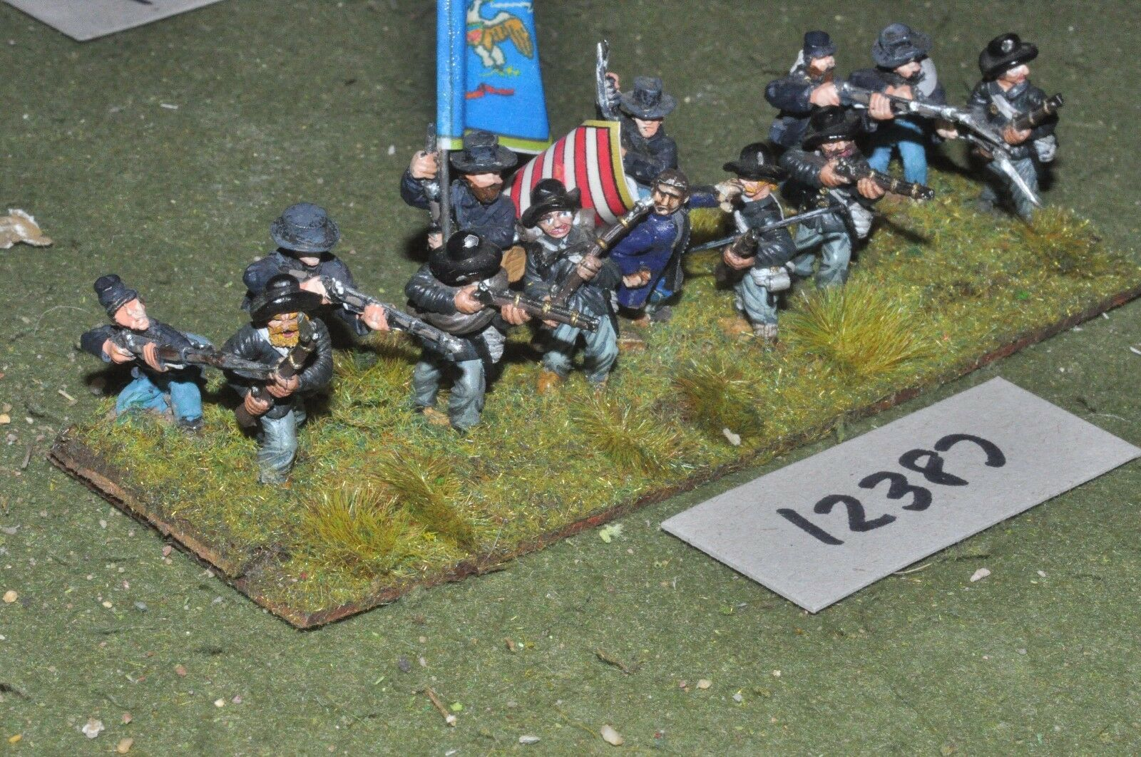 25mm ACW   union - american civil war infantry 13 figures - inf (12387)