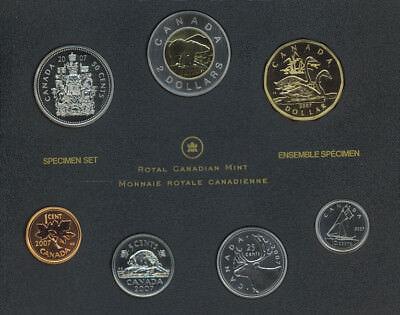 2007 Canada 7 Coin Specimen Set With Trumpeter Swan Dollar COA