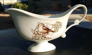 Vintage-Birds-Gravy-Boat-Thanksgiving-Turkey-China-Dinnerware