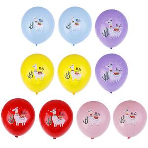 10x-Cartoon-Lama-Latex-Luftballons-Hochzeit-Baby-Dusche-Schaf-Party-YT