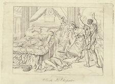 morte di Cleopatra 1842 incisione in rame
