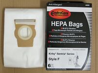 Kirby Sentria Vacuum HEPA Bags Style F - 6 Bags A835 Vacuum Cleaner Accessories