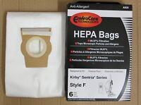 6 White Cloth Hepa Vacuum Bags For Kirby Style F Sentria +1 Belt