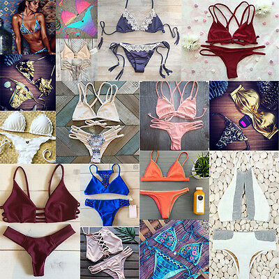 2016 Beach Swimwear Sexy Womens Bikini Swimsuit Bandage Brazilian bathing suit