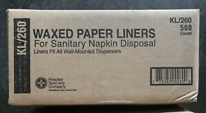 Waxed Paper Liners For sanitary Napkin Disposal