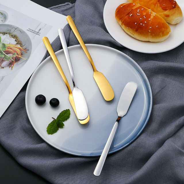 1pc Stainless Steel Butter Spreading Bread Toast Cake Spreader Knifes/fork Tools