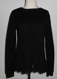 Etiket Lauren Sort Size Lilla Ralph S Sweater Excellent Fringes Cashmere xwf71qv6