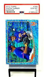 2013-Topps-Sapphire-LA-Dodgers-JUSTIN-TURNER-Card-25-PSA-10-GEM-MINT-Pop-1