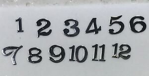 SILVER-Watch-Dial-Hour-Markers-Numbers-Numerals-dots-Miniature-Parts-Repair-fix