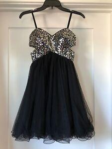 733188a75 Ladies Juniors size 1 Blondie Nites Black formal/prom strapless ...