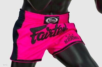 New ! Fairtex BS1714 Satin Shorts Boxing Muay Thai Shocking Pink Slim Cut