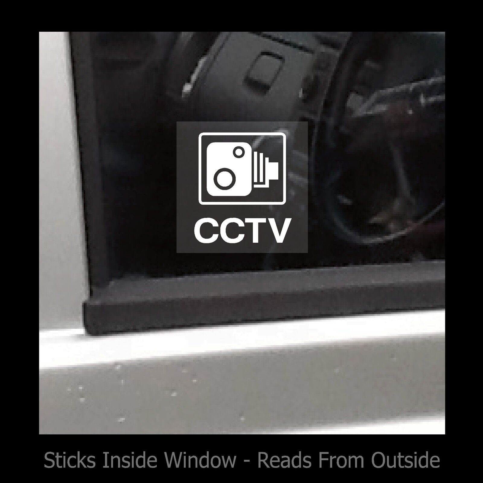 CCTV - Window Sticker / Sign - Security / CCTV / Car