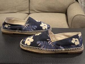 aldo cierwin blue floral espadrille slip on casual shoes