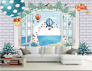 3D Animals Window  865 Wall Paper Murals Wall Print Wall Wallpaper Mural AU Kyra