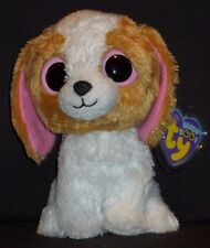 "TY BEANIE BOOS - COOKIE the 6"" DOG - NEAR MINT TAG - MISSING HEART"