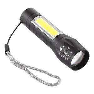 COB LED Taschenlampe Flashlight Arbeits Lampe Leuchte USB Wiederaufladbar XPE