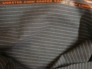 4-38-yd-JOHN-COOPER-WOOL-FABRIC-Cool-Wool-Super-100s-8-oz-SUITING-158-034-BTP