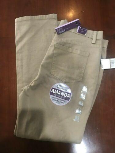 Gloria Vanderbilt Amanda Original Slimming Jeans Many Sizes Beige NWT