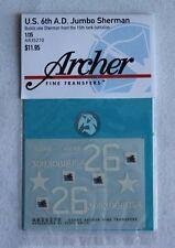 "Archer 1/35 M4A3E2 Sherman Jumbo ""AQUINO"" Markings 15th TB 6th AD WWII AR35270"