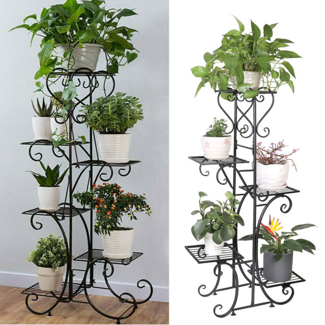 Wooden Plant Shelf 5 Tier Stand Flower, Patio Plant Stands Tiered
