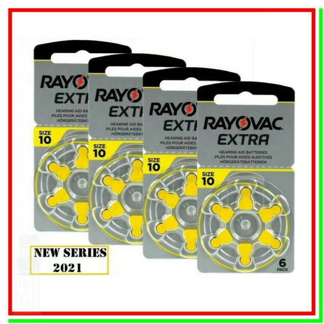 batterie per apparecchi acustici 10 rayovac extra 24 pile per protesi