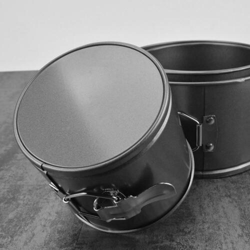 4pcs Carbon Steel Baking Pan Round Shape Non-Stick Cake Mold with Buckle