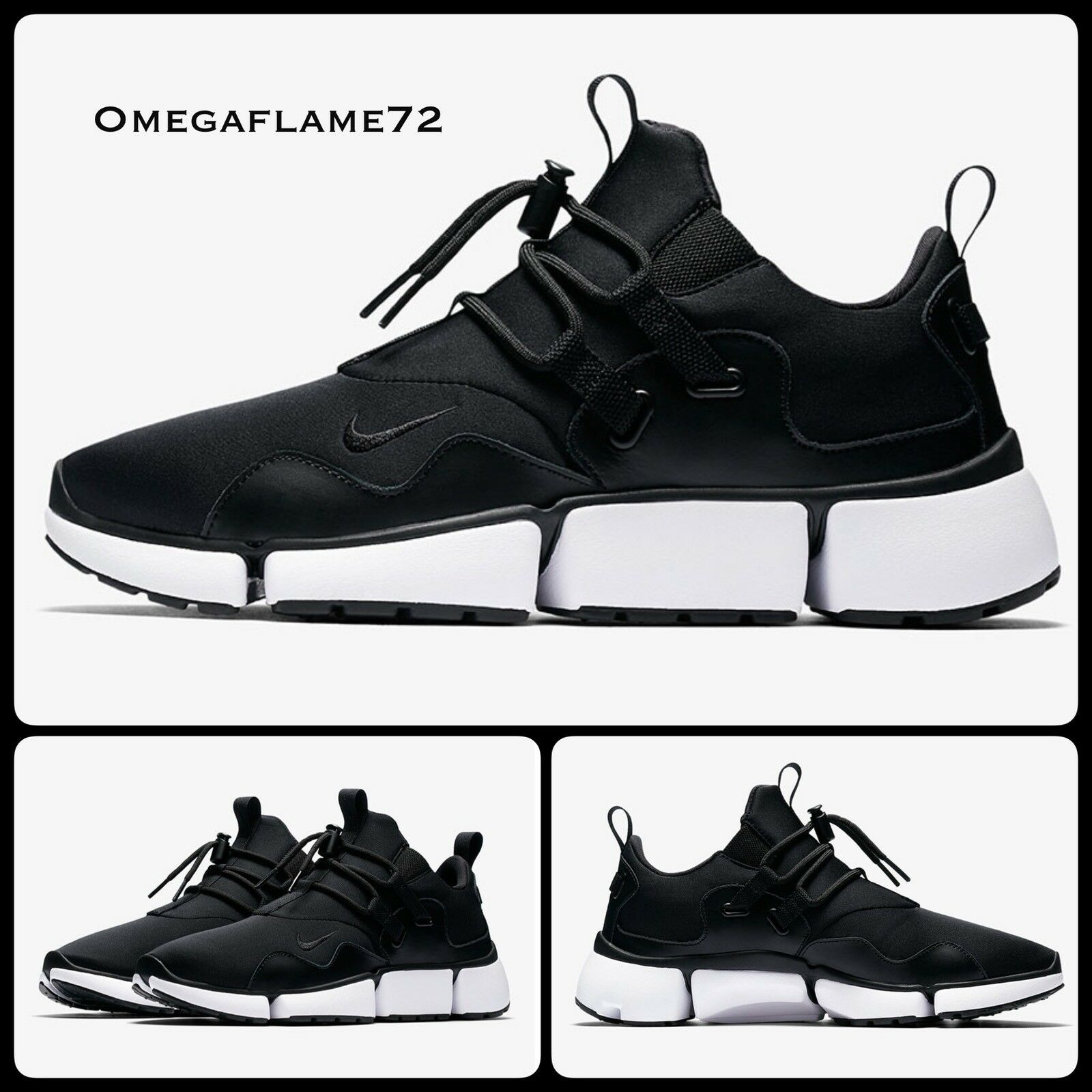 Nike Pocketknife DM Noir & Blanc 898033-001 Tailles UK 10 EU 45 USA 11