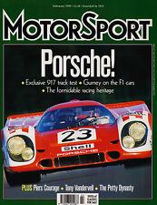 Motor Sport Feb 1999 - Porsche 917 Track Test, Elio de Angelis & GP drivers stri