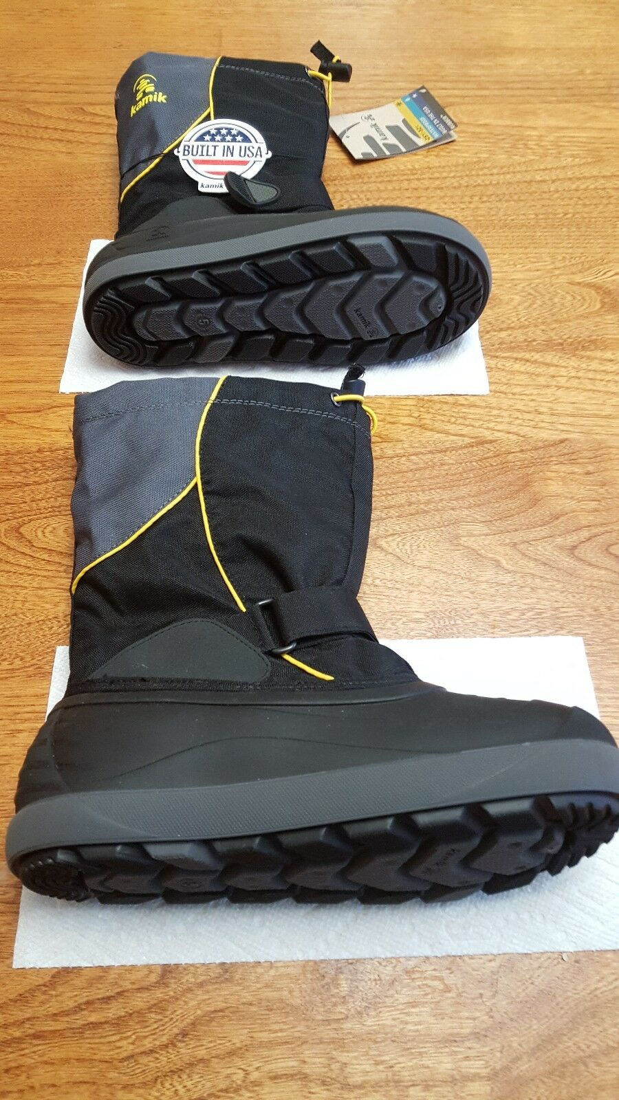 Kamik Water Proof Built in The USA Boots Unisex Black Size 5 14105-Black