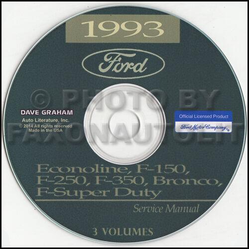 1993 Ford F150 F250 Bronco Super Duty Service Manual