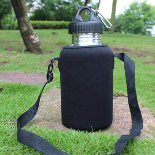 EB/_ JN/_ 2L//2000ml Stainless Steel Tea Water Bottle Carrier Insulated Bag Holder