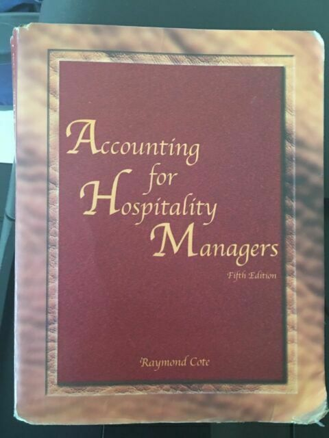 Accounting For Hospitality Managers 2007 Paperback For Sale