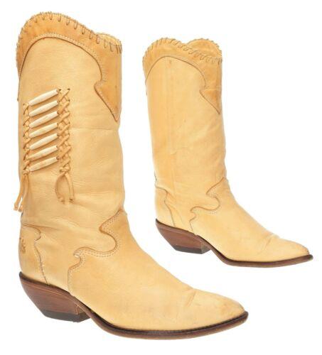 ZODIAC Cowboy Boots 8.5 Womens Leather Beaded DEER