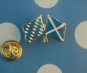 Freundschaftspin-Bayern-Schottland-Pin-Badge-Button-Anstecknadel-Anstecker